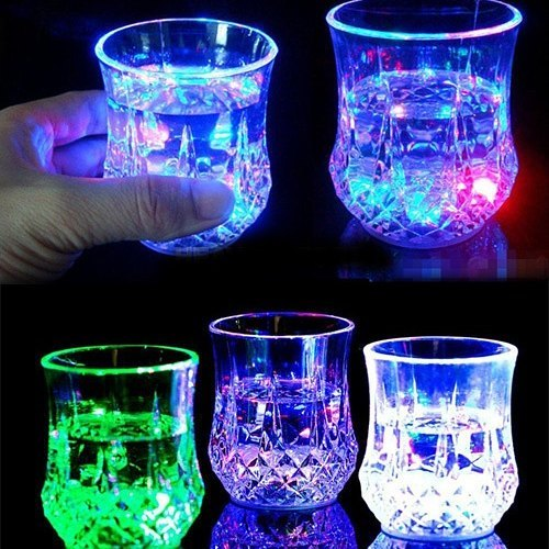 لیوان چراغدار هفت رنگ